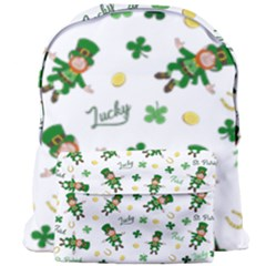 St Patricks Day Pattern Giant Full Print Backpack by Valentinaart