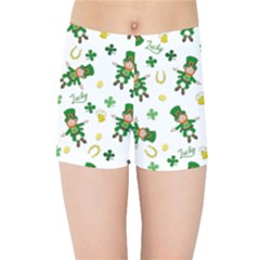 St Patricks Day Pattern Kids Sports Shorts