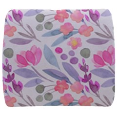 Purple And Pink Cute Floral Pattern Back Support Cushion