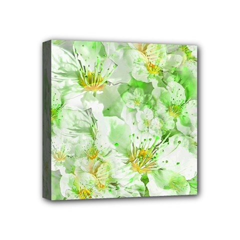 Light Floral Collage  Mini Canvas 4  X 4  by dflcprints