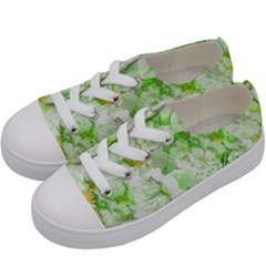 Light Floral Collage  Kids  Low Top Canvas Sneakers by dflcprints