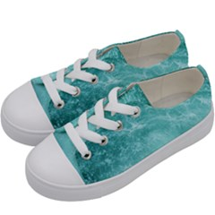 Green Ocean Splash Kids  Low Top Canvas Sneakers by snowwhitegirl