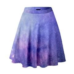 Galaxy High Waist Skirt by snowwhitegirl