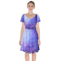 Galaxy Short Sleeve Bardot Dress