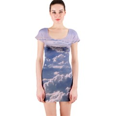 In The Clouds Short Sleeve Bodycon Dress