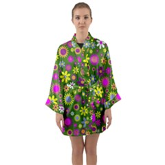 Abstract 1300667 960 720 Long Sleeve Kimono Robe by vintage2030