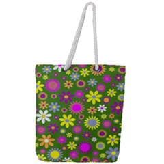Abstract 1300667 960 720 Full Print Rope Handle Tote (large)