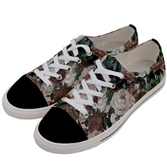 Rose Bushes Brown Women s Low Top Canvas Sneakers by snowwhitegirl