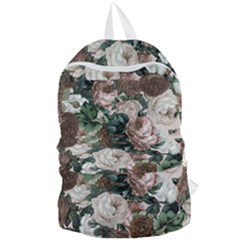 Rose Bushes Brown Foldable Lightweight Backpack by snowwhitegirl