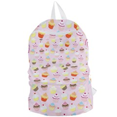 Baby Pink Valentines Cup Cakes Foldable Lightweight Backpack by PodArtist