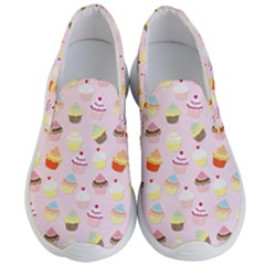 Baby Pink Valentines Cup Cakes Men s Lightweight Slip Ons by PodArtist