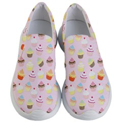 Baby Pink Valentines Cup Cakes Women s Lightweight Slip Ons by PodArtist