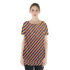 Gay Pride Flag Candy Cane Diagonal Stripe Skirt Hem Sports Top by PodArtist