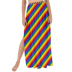 Gay Pride Flag Candy Cane Diagonal Stripe Maxi Chiffon Tie Up Sarong