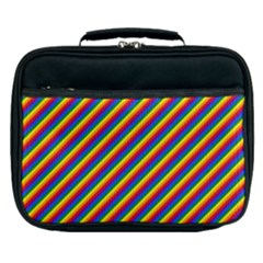 Gay Pride Flag Candy Cane Diagonal Stripe Lunch Bag by PodArtist