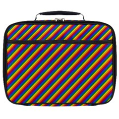 Gay Pride Flag Candy Cane Diagonal Stripe Full Print Lunch Bag by PodArtist