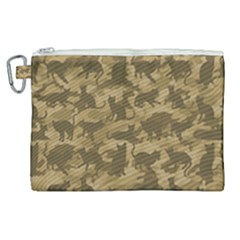 Operation Desert Cat Camouflage Catmouflage Canvas Cosmetic Bag (xl) by PodArtist