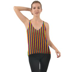 Vertical Gay Pride Rainbow Flag Pin Stripes Cami by PodArtist