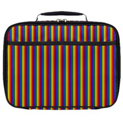 Vertical Gay Pride Rainbow Flag Pin Stripes Full Print Lunch Bag by PodArtist