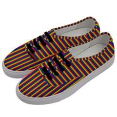 Vertical Gay Pride Rainbow Flag Pin Stripes Men s Classic Low Top Sneakers by PodArtist