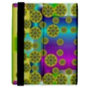 Celtic Mosaic With Wonderful Flowers Samsung Galaxy Tab 8.9  P7300 Flip Case View3
