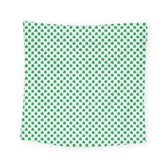 Green Shamrock Clover On White St  Patrick s Day Square Tapestry (small) by PodArtist