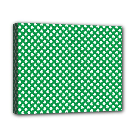 White Shamrocks On Green St  Patrick s Day Ireland Canvas 10  X 8  by PodArtist