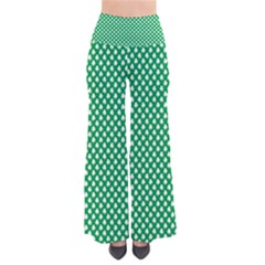 White Shamrocks On Green St  Patrick s Day Ireland Pants by PodArtist