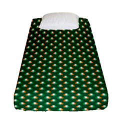 Irish Flag Green White Orange On Green St  Patrick s Day Ireland Fitted Sheet (single Size) by PodArtist