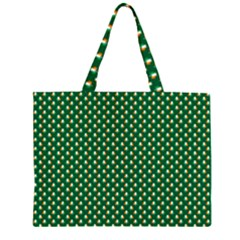Irish Flag Green White Orange On Green St  Patrick s Day Ireland Zipper Large Tote Bag