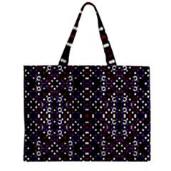 Futuristic Geometric Pattern Mini Tote Bag by dflcprints