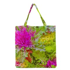 Colored Plants Photo Grocery Tote Bag by dflcprints