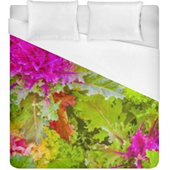 Colored Plants Photo Duvet Cover (king Size) by dflcprints