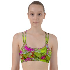 Colored Plants Photo Line Them Up Sports Bra