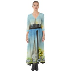 Town 1660455 1920 Button Up Boho Maxi Dress