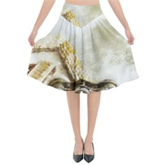 Background 1660942 1920 Flared Midi Skirt by vintage2030