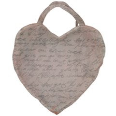 Letter Giant Heart Shaped Tote by vintage2030