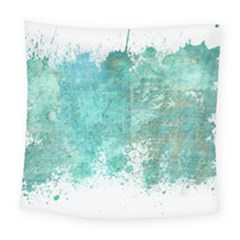 Splash Teal Square Tapestry (large) by vintage2030