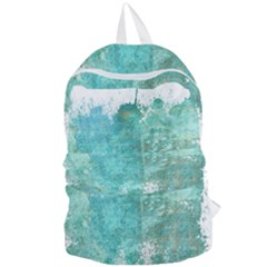 Splash Teal Foldable Lightweight Backpack by vintage2030