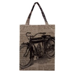 Bicycle Letter Classic Tote Bag by vintage2030