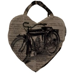 Bicycle Letter Giant Heart Shaped Tote by vintage2030