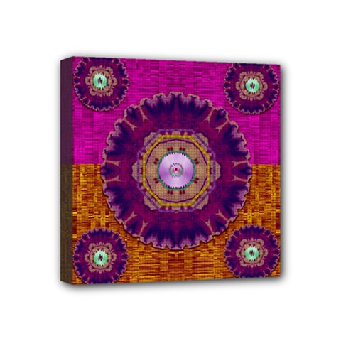 Viva Summer Time In Fauna Mini Canvas 4  X 4  by pepitasart