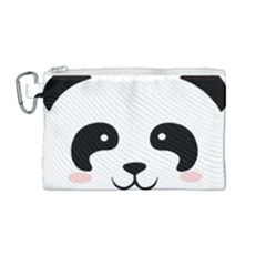 Panda  Canvas Cosmetic Bag (medium) by Valentinaart