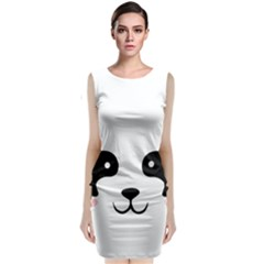 Panda  Classic Sleeveless Midi Dress by Valentinaart