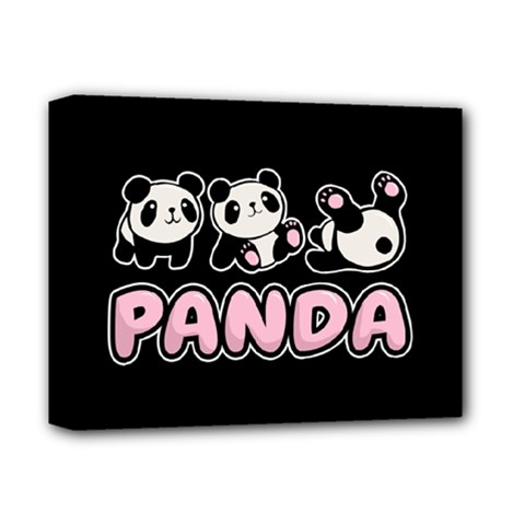 Panda  Deluxe Canvas 14  X 11  by Valentinaart