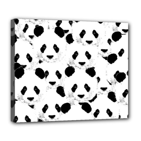 Panda Pattern Deluxe Canvas 24  X 20   by Valentinaart