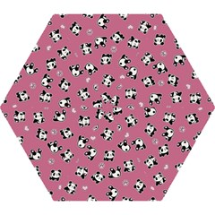 Panda Pattern Mini Folding Umbrellas by Valentinaart