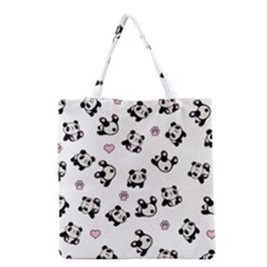 Panda Pattern Grocery Tote Bag by Valentinaart