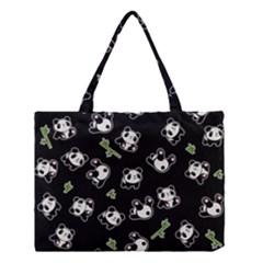 Panda Pattern Medium Tote Bag by Valentinaart