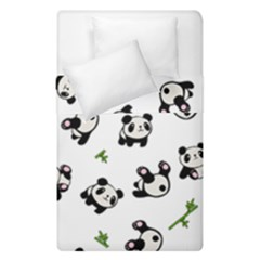 Panda Pattern Duvet Cover Double Side (single Size) by Valentinaart